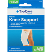 TopCare Medium Basic Elastic Fits Left Or Right Knee Support