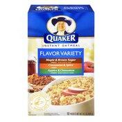Quaker Instant Oatmeal Maple & Brown Sugar, Cinnamon & Spice, Apples & Cinnamon Flavor Variety Packets