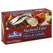 Arkona Mackerel Fillet, Skinless, Boneless, In Sunflower Oil