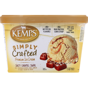 Kemps Ice Cream, Premium, Salty Caramel Swirl