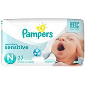 Pampers Premium Pampers Swaddlers Sensitive Newborn Diapers Size 0 27 count  Diapers