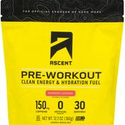 Ascent Energy Drink Mix, Pre-Workout, Raspberry Lemonade