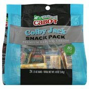 Cabot Cheese, Premium Natural, Colby Jack, Snack Pack