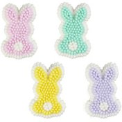 Wilton Pastel Bunny Icing Decorations, 12-Count