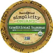 Boar's Head Organic Simplicity Traditional Hummus with Organic Avocado Oil
