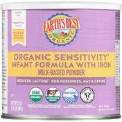 Earth's Best Sensitivity Infant Formula Powder with Iron Milk-Based Powder