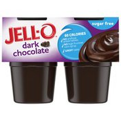 Jell-O Dark Chocolate Sugar Free Ready-to-Eat Pudding Cups Snack