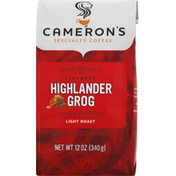Camerons Coffee, Ground, Light Roast, Highlander Grog