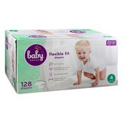Baby Basics Diapers, Flexible Fit, 4 (22-37 lb)