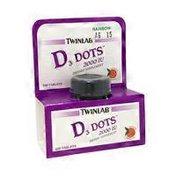 Twinlab Tangerine Flavor D3 Dots, 2000 IU Tablets