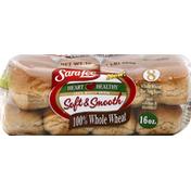 Sara Lee Hot Dog Buns, 100% Whole Wheat
