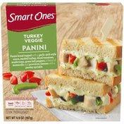 Smart Ones Turkey Veggie Panini with Garlic Aioli Sauce, Tomatoes, Mushrooms, Green Peppers, Mozzarella, Provolone & Parsley Frozen Meal