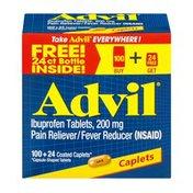 Advil Ibuprofen Coated Caplets - 124 CT