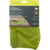 Casabella Scrubby Cloths, All Surface, Microfiber, 2 Pack