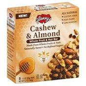 Glennys Whole Fruit & Nut Bar, Cashew & Almond