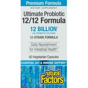 Natural Factors Ultimate Probiotic, 12/12 Formula, Vegetarian Capsules