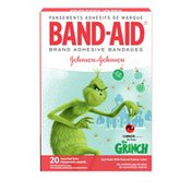 Band-Aid Brand Adhesive Bandages Featuring Dr. Seuss The Grinch, Assorted Sizes