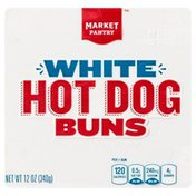 Market Pantry Hot Dog Buns, White, Sliced