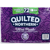 Quilted Northern Bathroom Tissue, Unscented, Double Rolls, 3-Ply