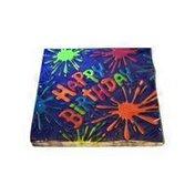 American Greetings Napkins, Luncheon, Birthday Splat, 2 Ply