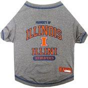 Pet First Small Illinois Fighting Illini Pet T-Shirt