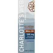 Charlotte's Web Hemp Extract, 100 mg, Lavender, Roll-On