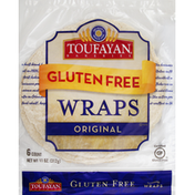 Toufayan Wraps, Gluten Free, Original