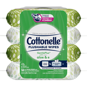 Cottonelle GentlePlus Flushable Wet Wipes with Aloe & Vitamin E,