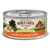 Whole Earth Farms Grain Free Real Chicken & Salmon Recipe Pate Natural Food For Cats