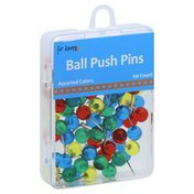 For Keeps Push Pins, Ball, Assorted Colors
