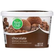 Food Club Chocolate Decadently Delicious Chocolate Premium Ice Cream