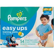 Pampers Easy Ups Big Pack Boys Size 3T-4T Training Pants