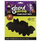 Ghoul Essentials Foam Craft Bats, 8 Pack