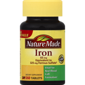 Nature Made Iron, 65 mg, Tablets