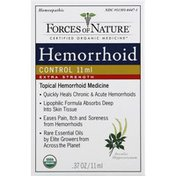 Forces of Nature Hemorrhoid Control, Extra Strength, Aesculus Hippocastanum