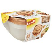 Glad Containers & Lids, Tall Entree, Large, Square, 42 Ounce