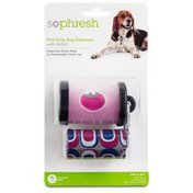 So Phresh Pick It Up Clear Dog Bag Dispenser With Refill 30 Count