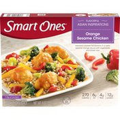 Smart Ones Orange Sesame Chicken with Zesty Orange Sesame Sauce, Vegetables & Brown Rice Frozen Meal