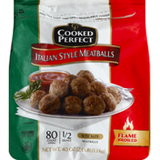 Cooked Perfect Meatballs, Bite Size, Italian Style