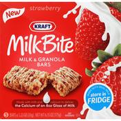 Kraft Milk & Granola Bars, Strawberry