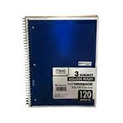 Mead Spiral 3 Subjects College Ruled Notebook
