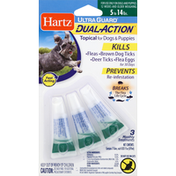 Hartz Dual Action Topical, for Dogs & Puppies, 5 to 14 lbs