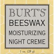 Burt's Bees Night Creme, Moisturizing, Beeswax