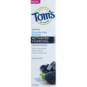 Tom's of Maine Toothpaste, Whitening, Natural, Peppermint, Activated Charcoal