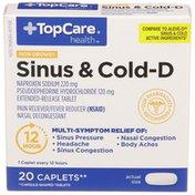 TopCare Sinus & Cold-D, Non-Drowsy, Caplets
