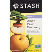 Stash Tea Green Tea, Asian Pear Harmony, Tea Bags