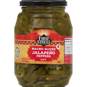 First Street Jalapeno Peppers, Nacho Sliced, Hot