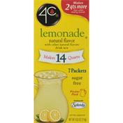4C Foods Drink Mix, Sugar Free, Lemonade, Pitcher Pack