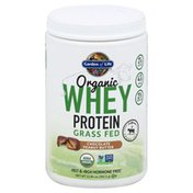 Garden of Life Whey Protein, Grass Fed, Organic, Chocolate Peanut Butter