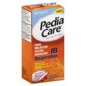 PediaCare Pain Reliever/Fever Reducer, Infants, Oral Suspension USP, Dye-Free Berry Flavor
